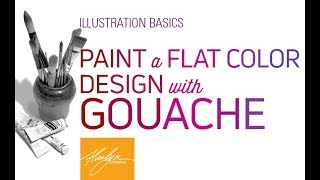 Paint A Flat Color Design With Gouache