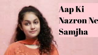 Aap Ki Nazron Ne Samjha | Lata Mangeshkar | cover by Aadritaa.