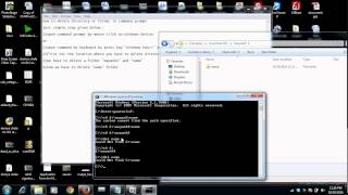how to delete a folder and directory by command prompt