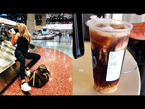 travel vlog: flying to vegas + first starbucks coffee ever!!