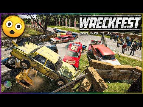 INSANE PILE UP WRECKS! [Farmlands Stage 3] | Wreckfest | NASCAR Legends Mod