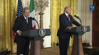 FULL: President Donald Trump Holds a Joint Press Conference with Prime Minister Gentiloni