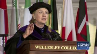 Hillary Clinton commencement address at Wellesley College (C-SPAN)