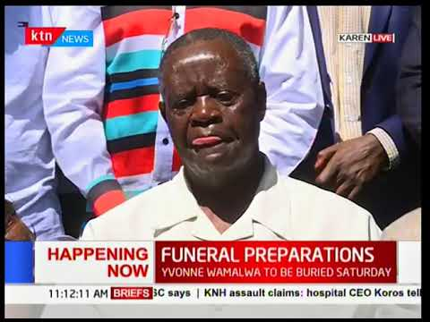 Funeral preparations for Yvonne Wamalwa on going