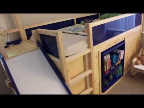 IKEA Hack - Kura Bed with slide and secret room