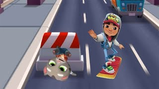 EPIC RUSH! Jake from Subway Surfers vs Tom from Talking Tom Gold Run