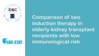Tutoriel : Comparaison chez des patients transplantés rénaux âgés avec un faible risque immunologiqu