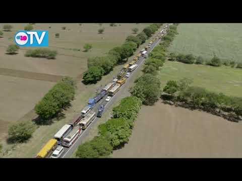 Imágenes aéreas de las caravanas rumbo a la plaza la Fe a celebrar el 40/19