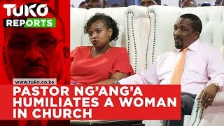 Pastor Ng'ang'a humiliates a woman in church for wearing old rubber shoes | Tuko TV