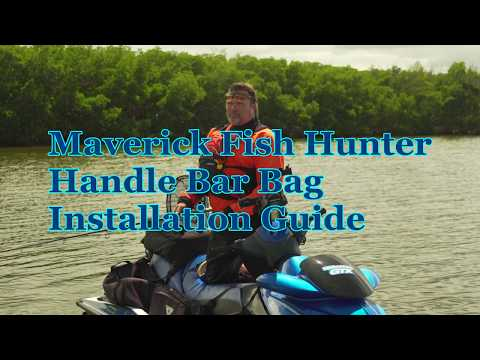 How To  - Jet Ski fishing Handle Bar Bag installation guide  - Maverick Fish Hunter
