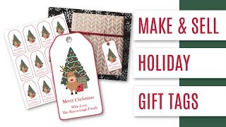 HOW TO MAKE & SELL HOLIDAY GIFT TAGS WITH PICMONKEY