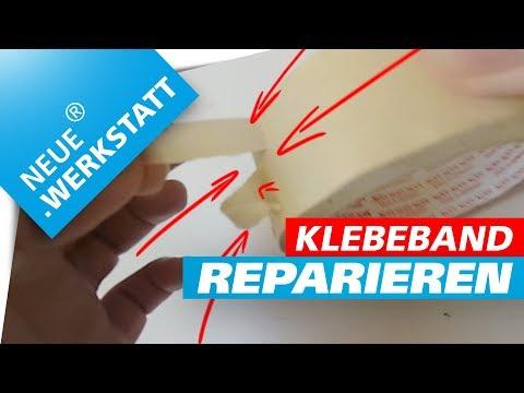 Klebe-Band reparieren /// Werkstatt-Tipp Kreppband // Altes Malerkrepp selbst reparieren