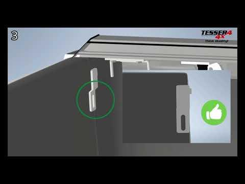 Sistema di chiusura EXTRA in acciaio inox per Tessera4x4 roll top