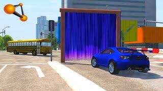 BeamNG.drive - Cars Jumping Through The Portal of Death