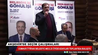 Akşehir'de seçim çalışmaları