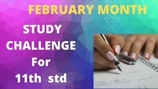 11th std study plan For All Subjects