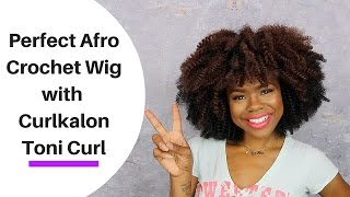 How to Perfect Afro Crochet Wig w/ CURLKALON | Maria Antionette TV