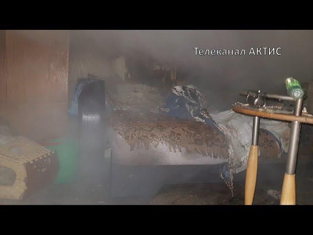 Ночной пожар в 12-том микрорайоне