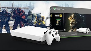 """Fallout 76 edition White Xbox One X """"unboxing"""" & game pass/gold giveaway"""