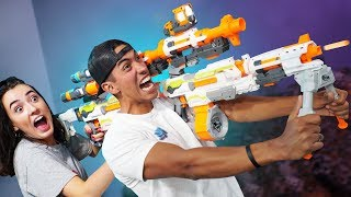 NERF *GIANT* 2-Person Blaster Challenge!