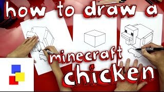 How To Draw A Chicken From Minecraft