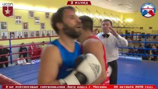 2-ые рейтинговые бои Лига бокса г. Москвы – 22.10.16 г. до 81 кг.