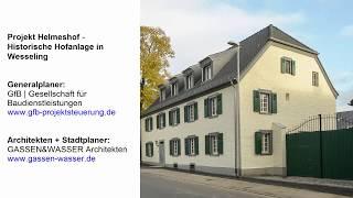 Trockenlegung im Mauersägeverfahren des Vierkanthof ( Helmeshof ) bei Wesseling in Köln