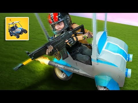 nerf fortnite atk golf cart in real life challenge