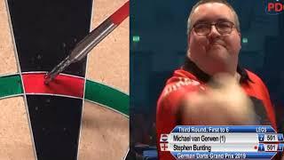 Michael van Gerwen vs Stephen Bunting German Darts Grand Prix R3