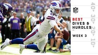 Best Dives & Hurdles from Sunday | NFL Week 3 Highlights | Kholo.pk
