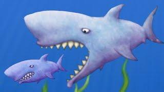 Приключение ГОЛОДНОЙ РЫБЫ #6 ЗУБАСТАЯ АКУЛА Веселая игра Tasty Blue от КИДА Family fun