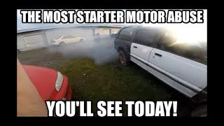 starting a hydrolocked/seized motor:SMOKE SHOW!