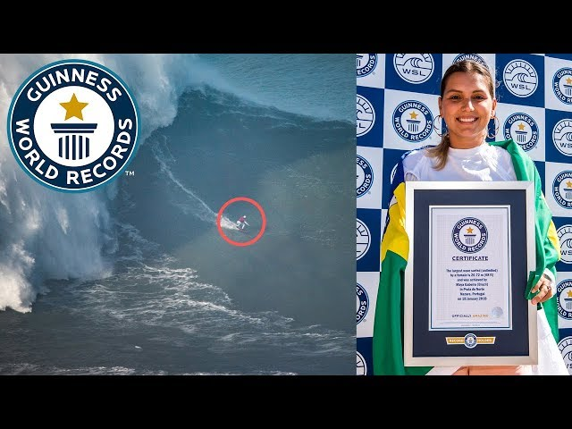 Largest wave surfed - female - Guinness World Records