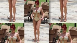 Amy Child's Impressive Cleavage - Splash News | Splash News TV | Splash News TV
