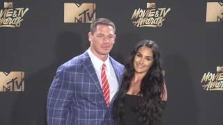 John Cena and Nikki Bella on the Red Carpet at the 2017 MTV Movie & TV Awards