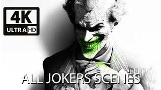 BATMAN: ARKHAM CITY All Joker Scenes 4k 60FPS Ultra HD