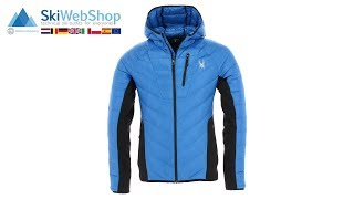 Spyder, Syrround hybrid hoody, midlayer, heren, sea blauw/zwart