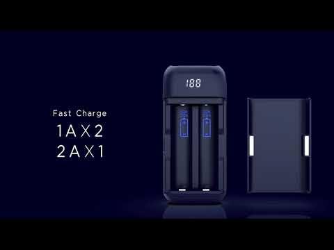 YouTube Video zu Xtar PB2 2-Schacht-Reiseladegerät mit Powerbankfunktion