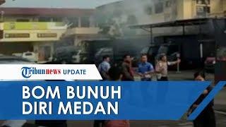 BREAKING NEWS: Video Ledakan Bom Bunuh Diri di Polrestabes Medan, Tubuh Pelaku Hancur