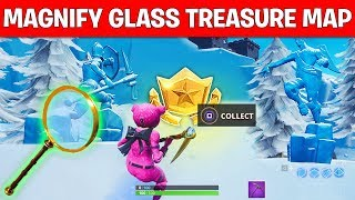 """""""SEARCH WHERE THE MAGNIFYING GLASS SITS ON THE TREASURE MAP LOADING SCREEN"""" LOCATION FORTNITE WEEK 3"""
