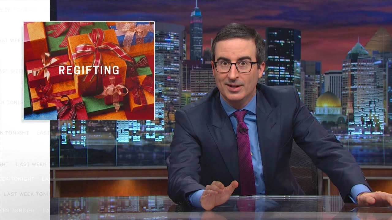 John Oliver's Guide To Regifting Your Christmas Junk