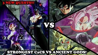 3 NEW QUESTS WITH NEW CHARACTERS! BUUZER & REZUUB VS ANCIENT GODS! STRONGEST CaCs - DB Xenoverse 2