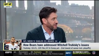 ESPN GET UP | Mike Greenberg DEBATE: How Bears have affressed Mitchell Trubisky's issues?