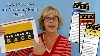 How to Host an Amazing Race Party
