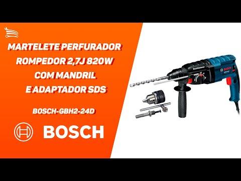 Martelete Perfurador Rompedor 2,7J 820W  com Mandril e Adaptador SDS - Video