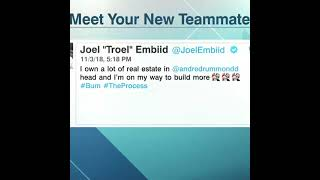 Joel Embiid's old tweet about new 76ers teammate Andre Drummond is resurfacing 😯 #Shorts
