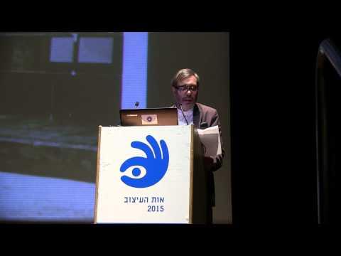 פרופסור צבי אפרת בטקס הענקת פרס מפעל חיים לדן איתן