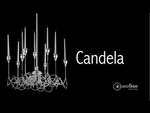 Video for Candela Chrome Nine-Light 22.75-Inch Wide Chandelier
