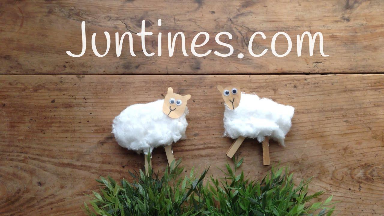 MANUALIDADES de animales | Cómo hacer una OVEJA con algodón