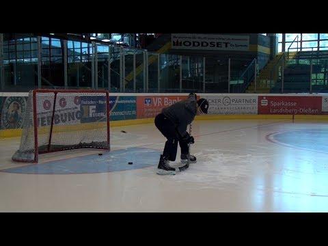 Eishockey Puck abfälschen Teil 1: flache Schüsse/ deflections part one